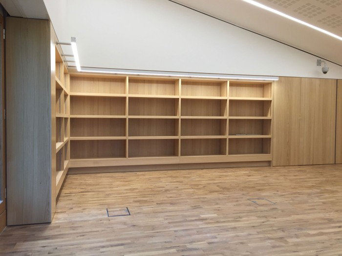 HMF Reading Room bookshelves aspect D