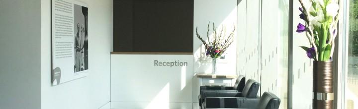 Henry Moore Foundation. Visitor's Reception Desk.